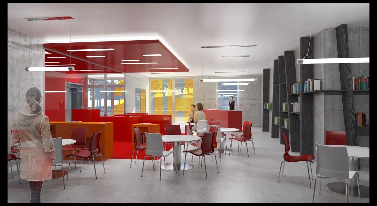 Hotel des Solidarités - vue intérieure, par SLA Architecture