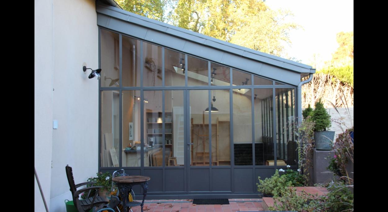 façade réalisée en acier laqué