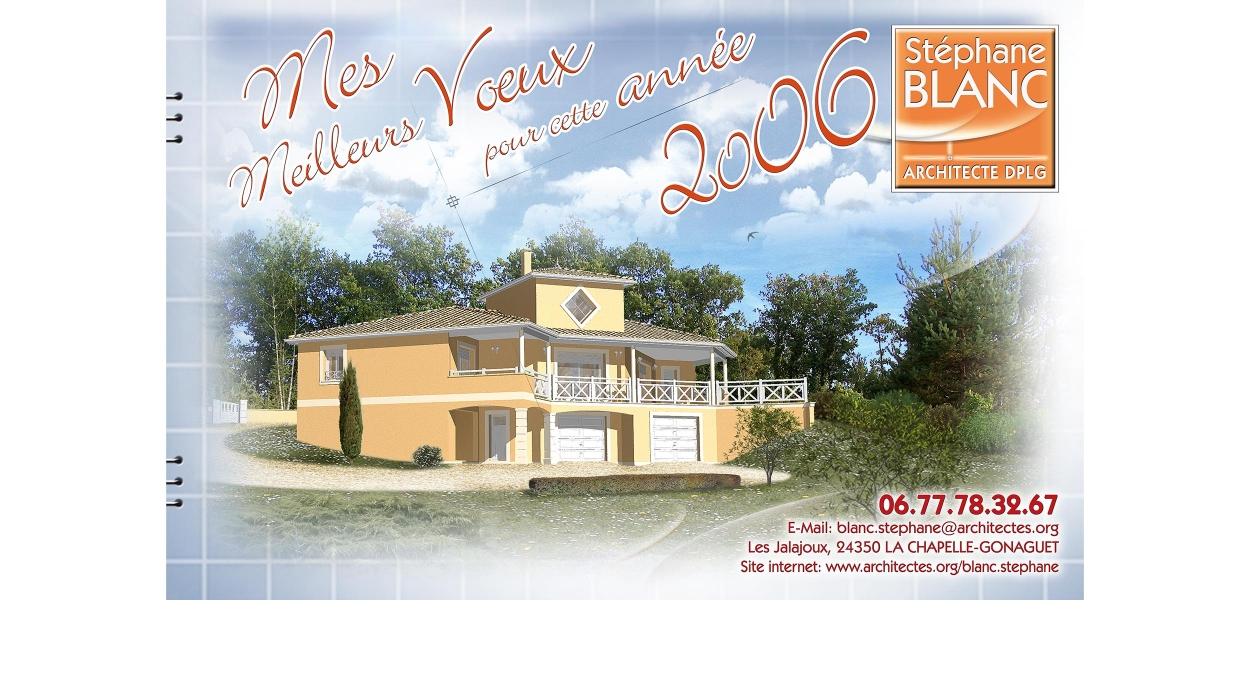 MES MEILLEURS VOEUX POUR CETTE ANNEE 2006.