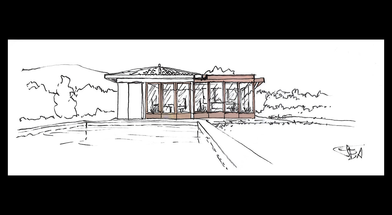 Croquis Extension poolhouse Brindas
