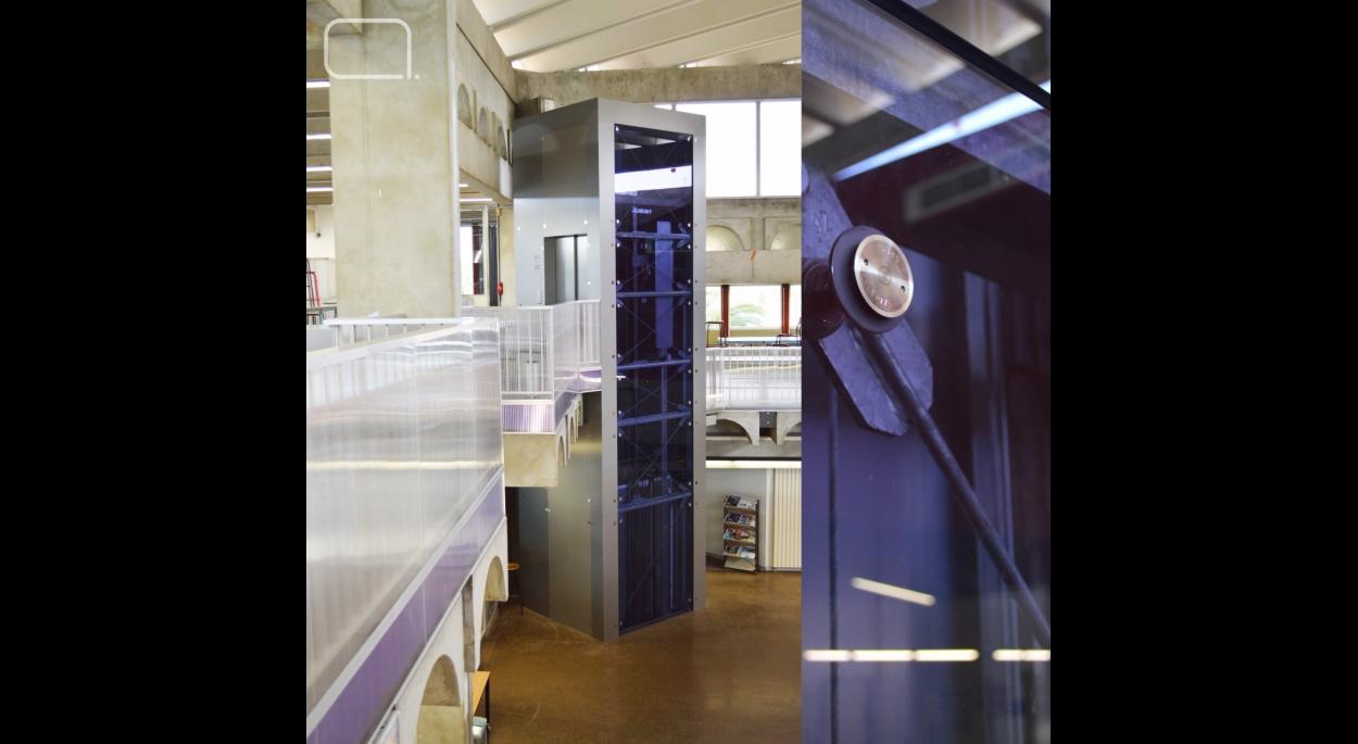 Mise en accessibilité ENSAM - ascenseur vitré