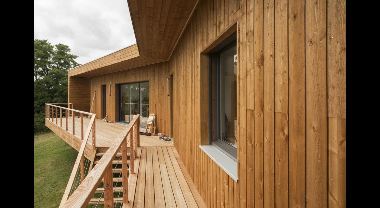 Constructeur Maison En Bois Loir Et Cher maison bioclimatique en bois | camille courcelle architecte