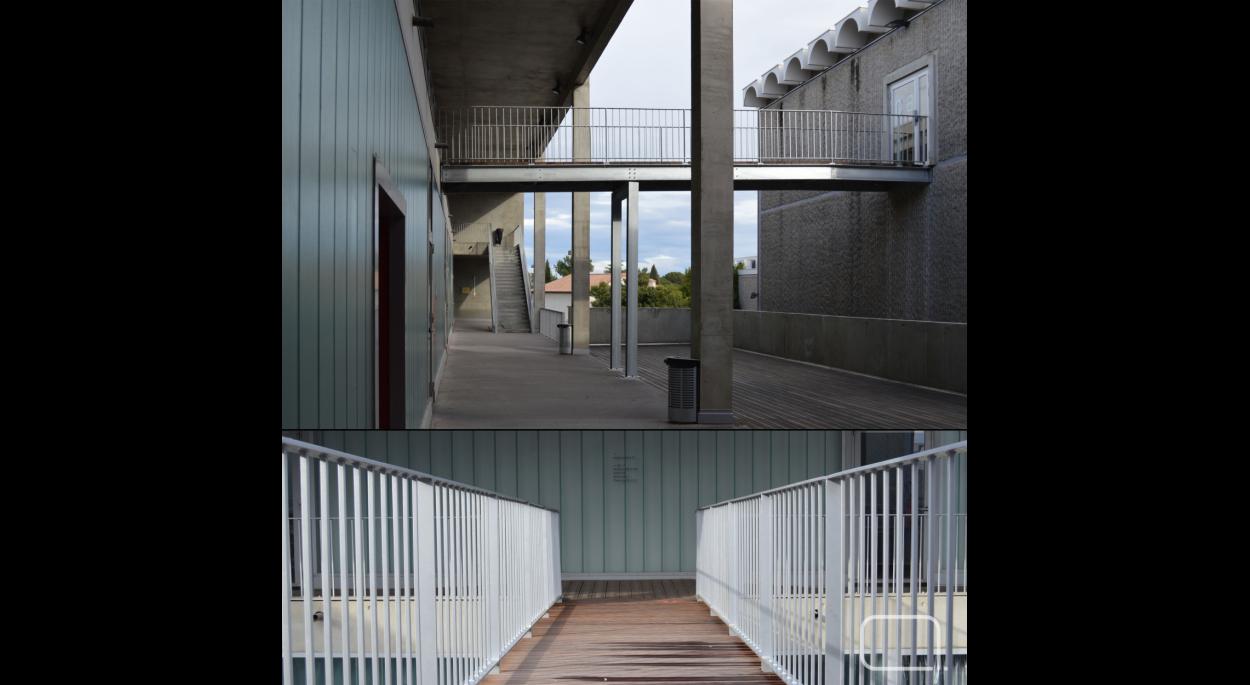 Mise en accessibilité ENSAM - passerelle reliant deux corps de bâtiment