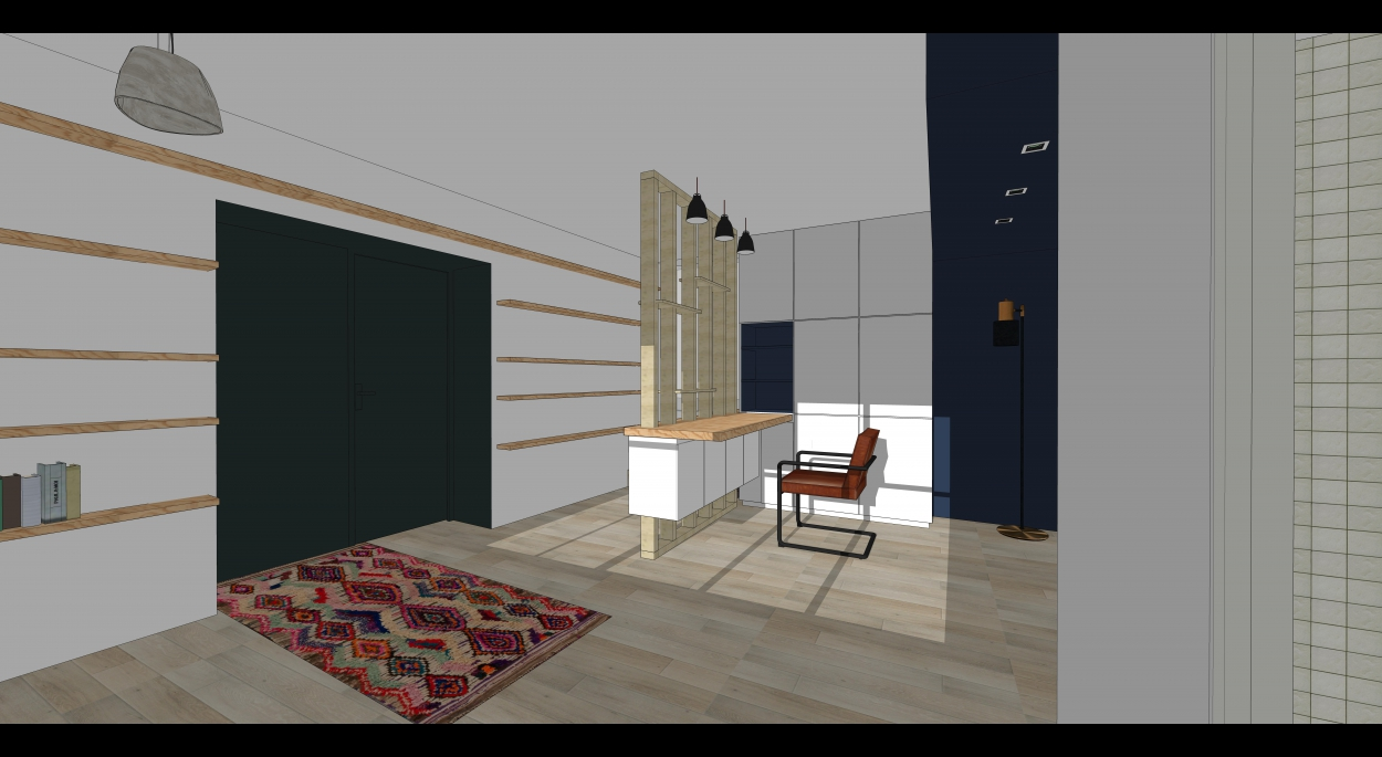aménagement d'un garage en bureau/chambre d'appoint | carine