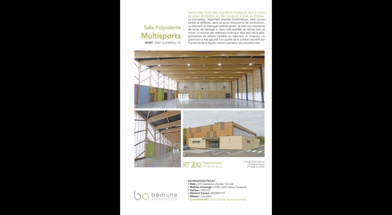Ecole et Collège Saint Viateur Canaguet - Bédrune Architectes