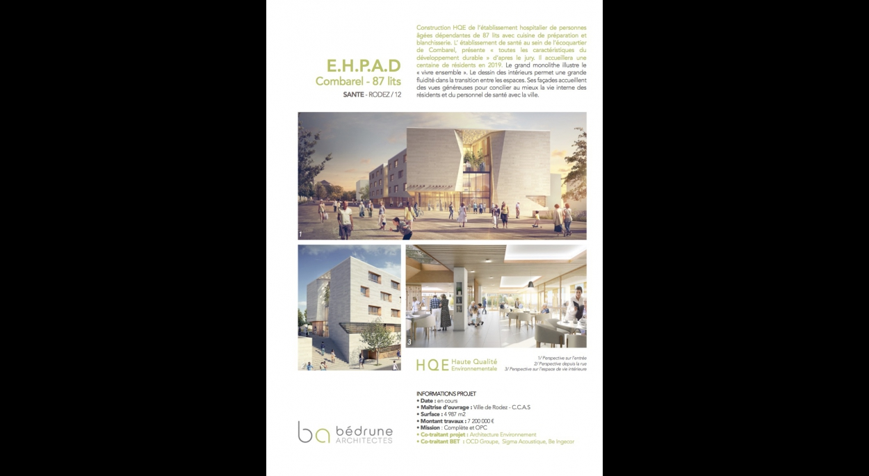 EHPAD COMBAREL - RODEZ (12) - Bedrune Architectes