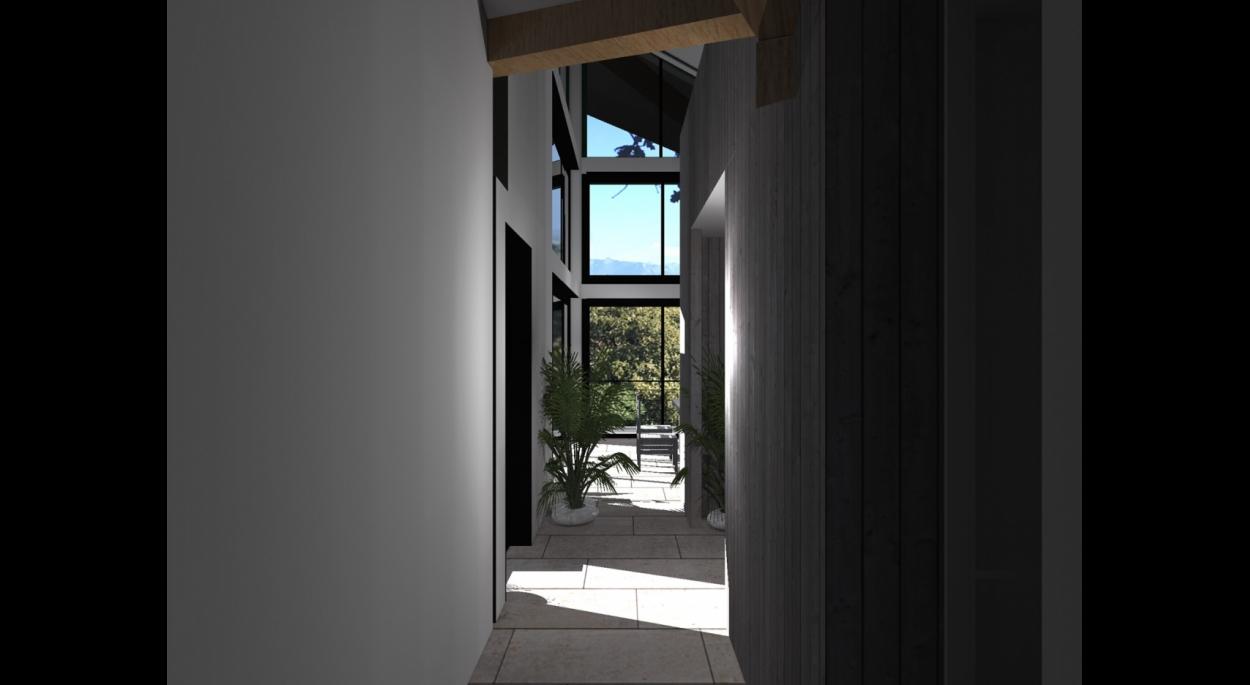 Dès l'entrée, l'habitant est happé par le panorama et la lumière.