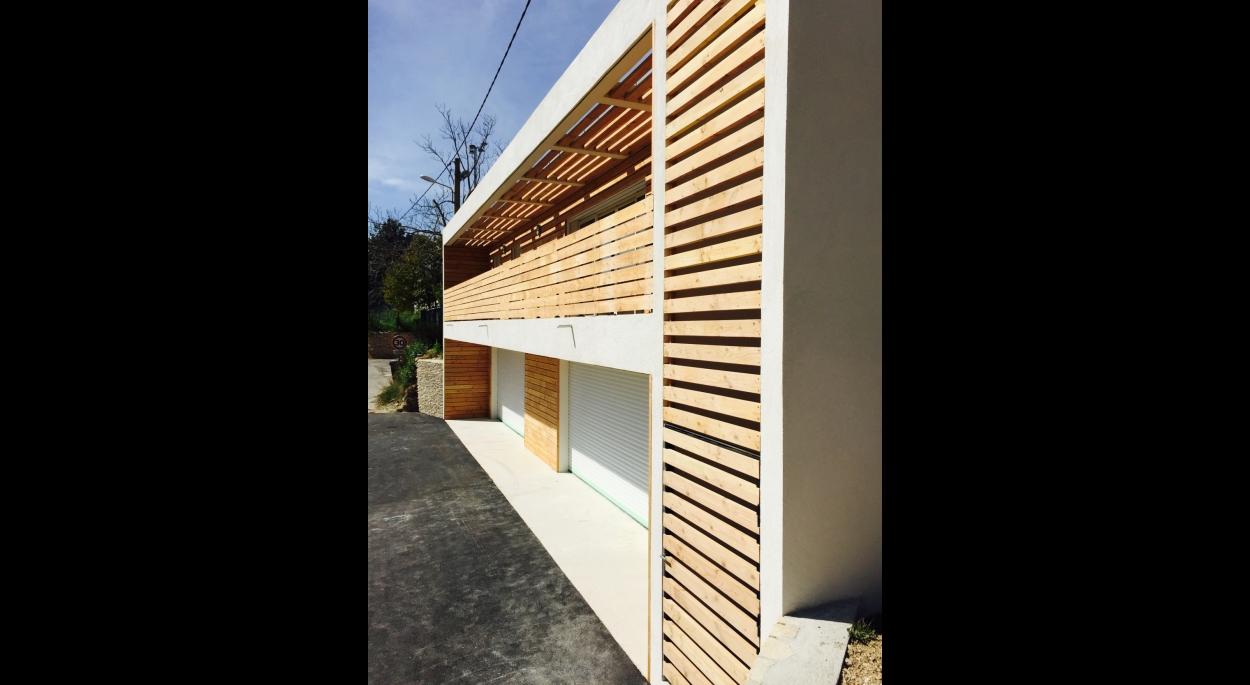 Comité feux de forêt d'Eguilles, façade, Cédric Barle architecte