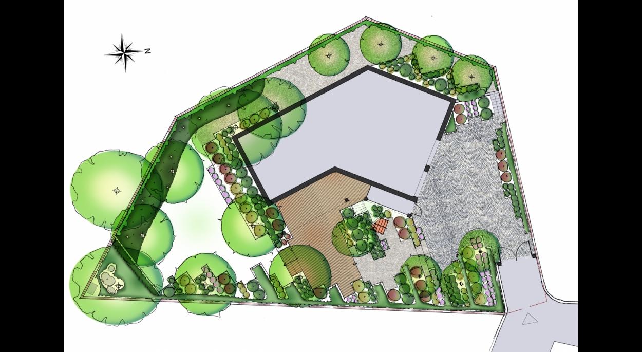 Proposition 1 - Plan d'aménagement - GUILLAUME BEAUFOCHER architecte
