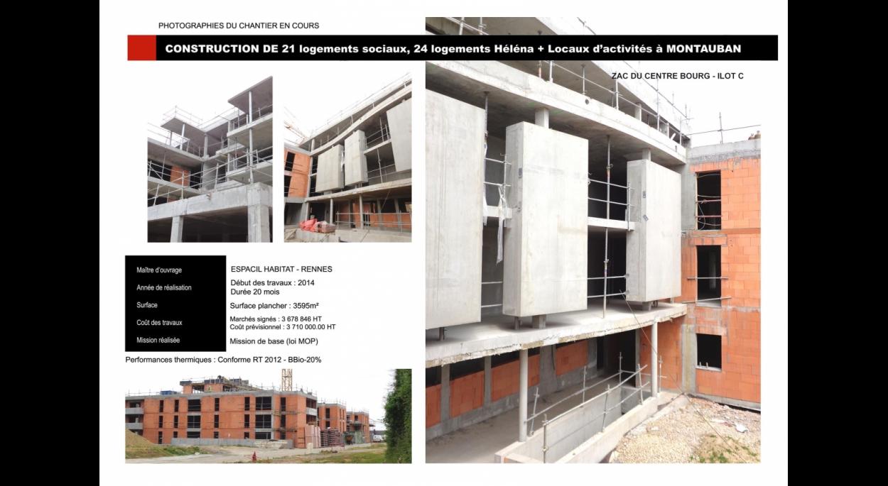 Construction d'un immeuble de 45 logements ESPACIL HABITAT