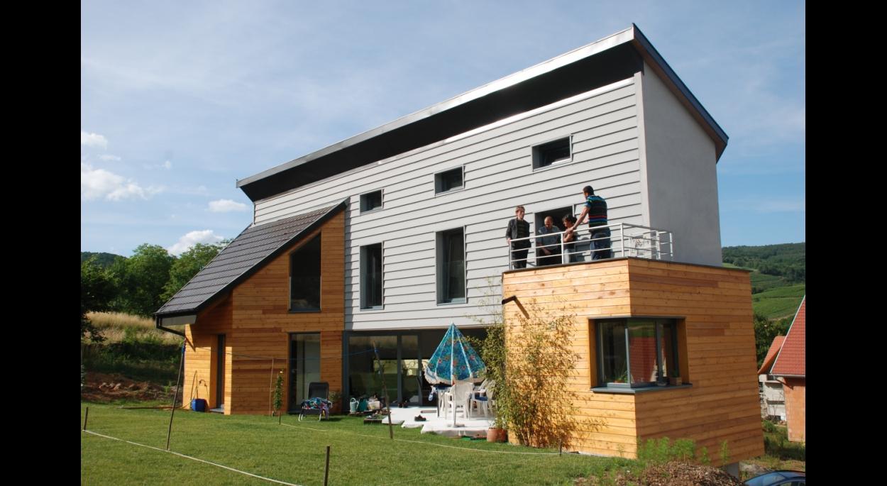Maison neuve à Soultzmatt/vue sur le jardin