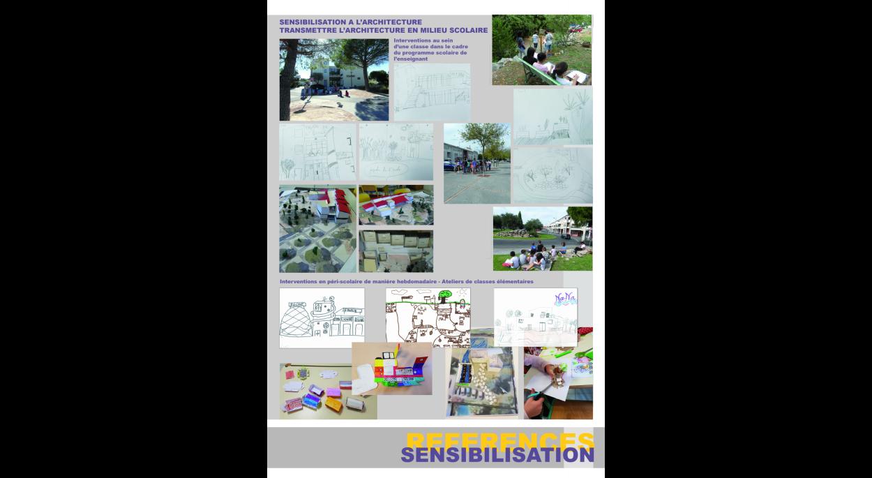 Invertion en milieu scolaire pour développer les notions d'architecture, d'urbanisme et de paysage.