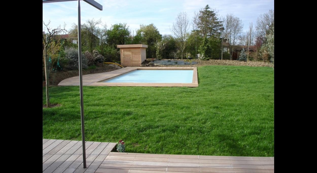 piscine, terrasse  & pool house