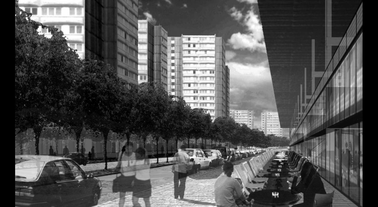 Création d'une rue et des façades au Sud de Bobigny II.