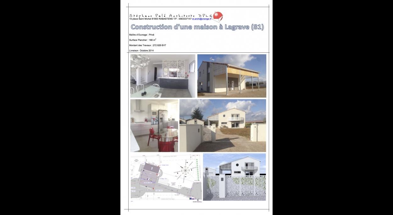 Construction d'une maison individuelle à Lagrave (81)