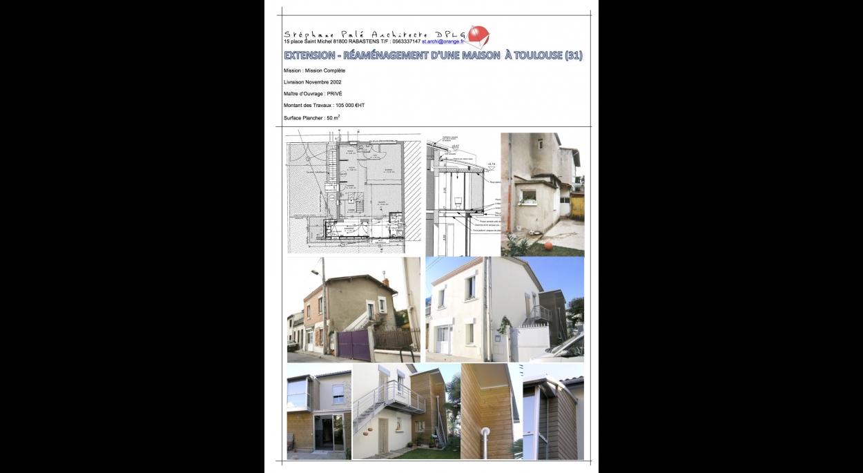 Rénovation et extension d'une maison de ville à Toulouse (31)