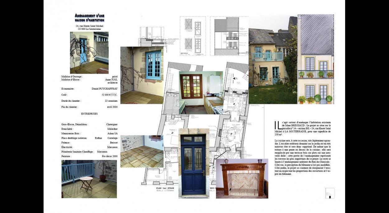 Aménagement d'une maison de ville avec création d'une terrasse en R+1 donnant sur jardin