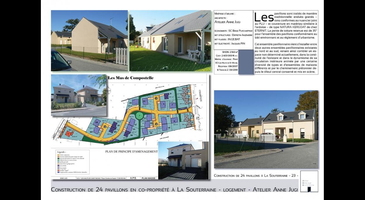 24 pavillons en co-propriété