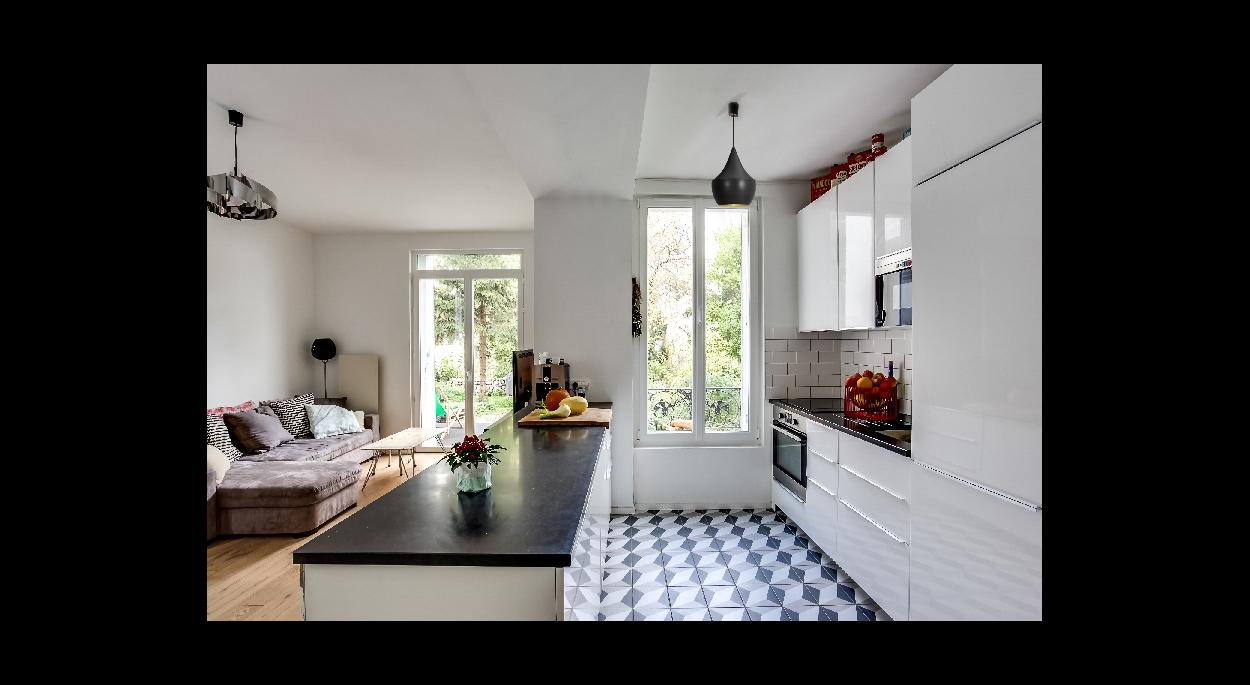 Salon et cuisine
