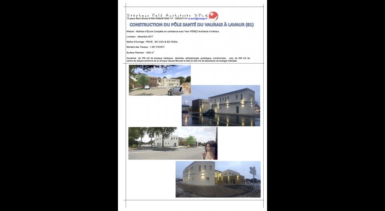 Construction d'un Pôle Santé à Lavaur (81)