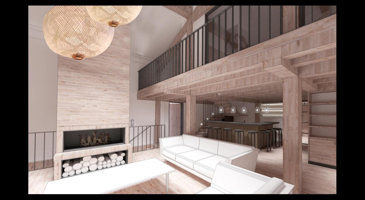 Aménagement intérieur d'un chalet contemporain haut de gamme - Architecte