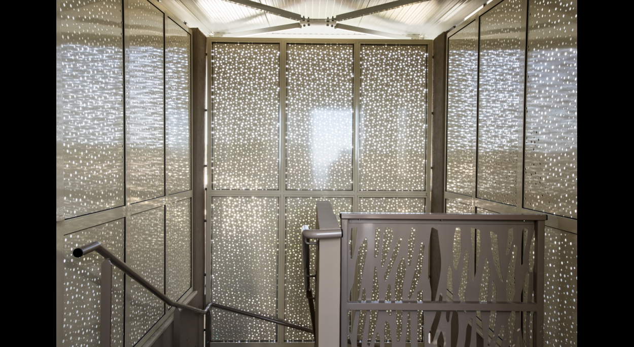 28 logements Les Angles - Grand Delta Habitat - Vue intérieure des cages escaliers