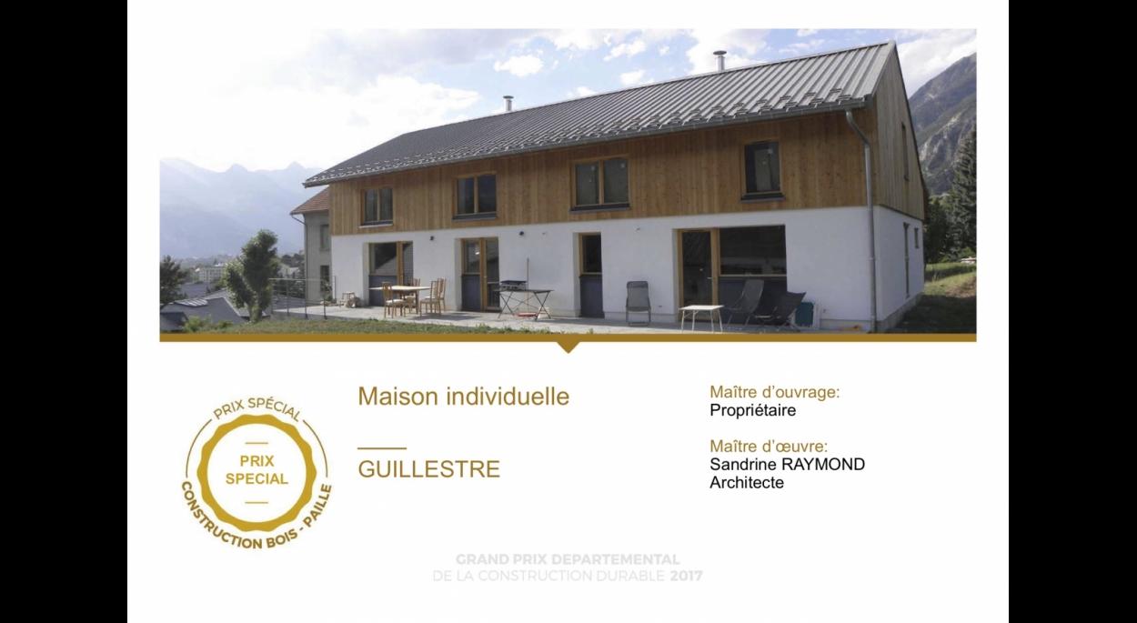 Maison mitoyenne bois paille Guillestre