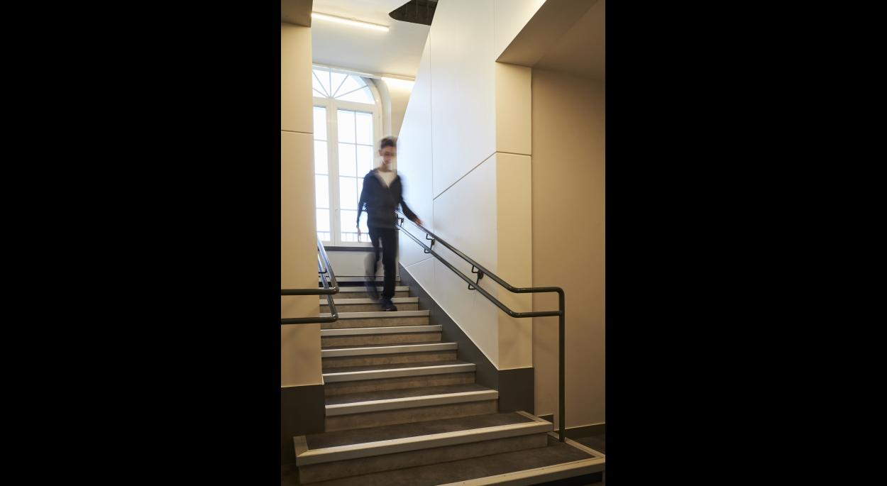 Vue de l'escalier principal