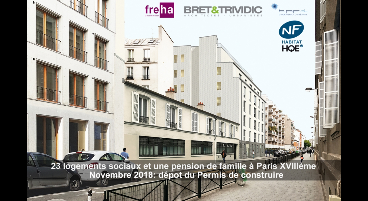 23 LOGEMENTS SOCIAUX ET UNE PENSION DE FAMILLE A PARIS