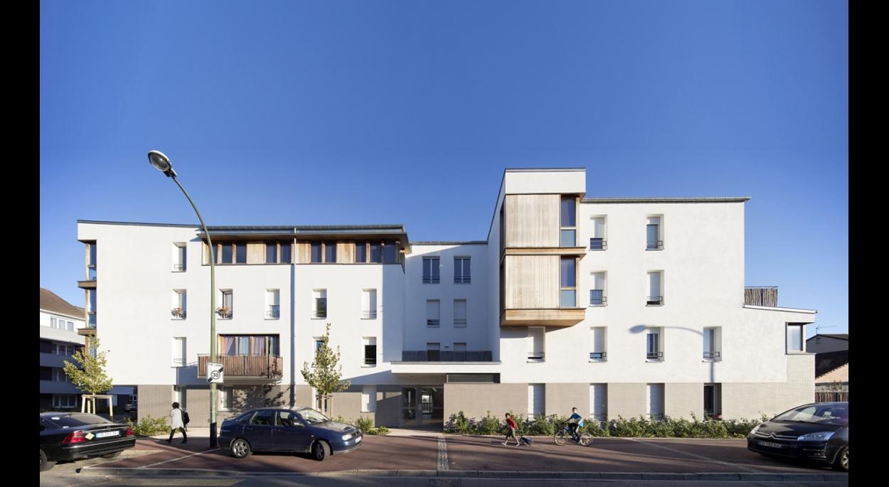 LOGEMENTS H&E/BBC rue Pajol à NOISY LE GRAND : façades nord rue Pajol