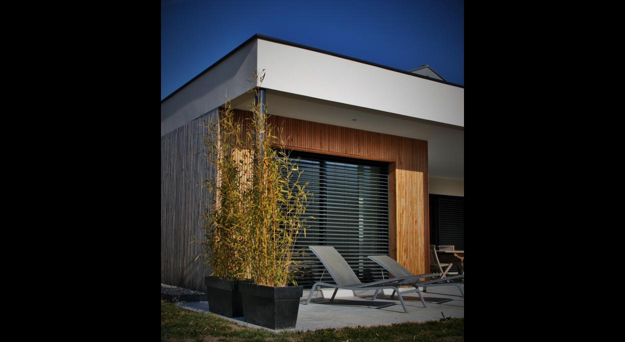 Maison Mocelin-Lanotte - Détail façade chambre parentale