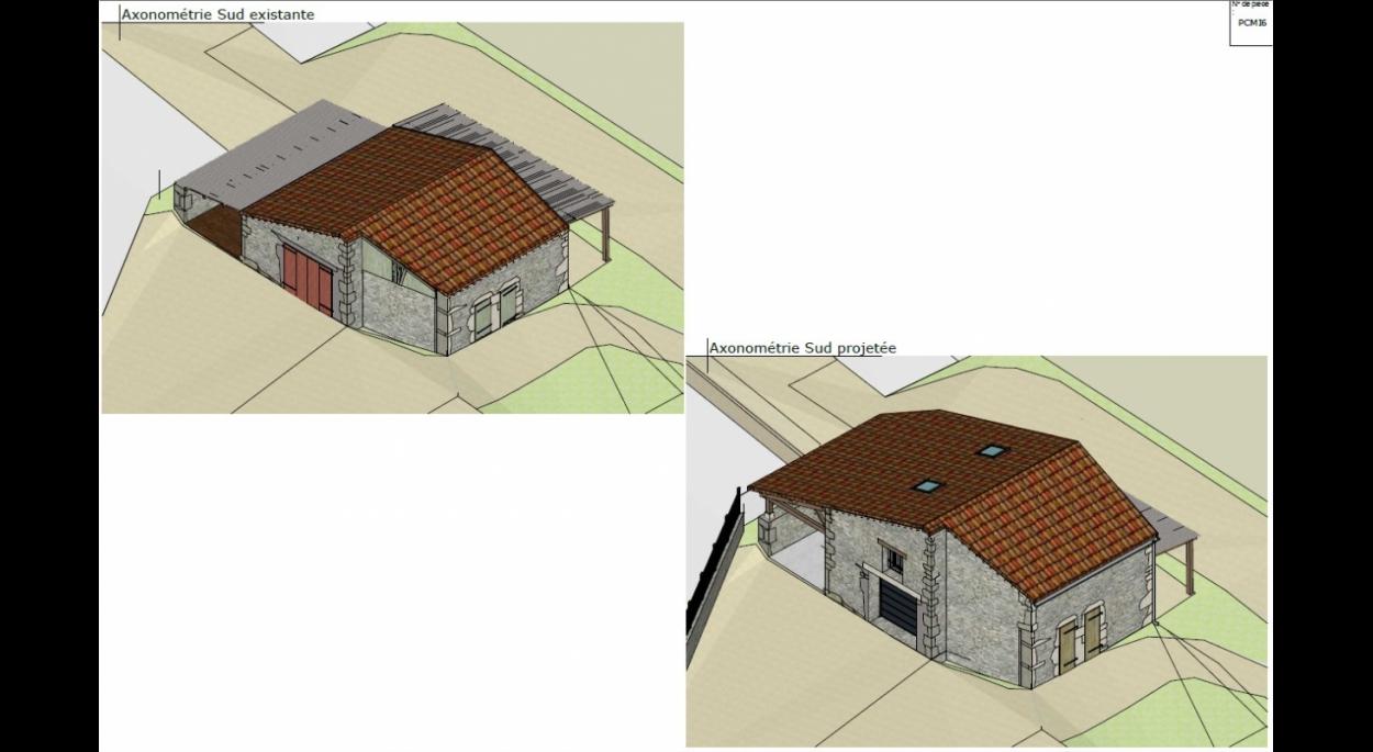 architecte Cremps 46 Lot Quercy grange surélavation travaux permis de construire