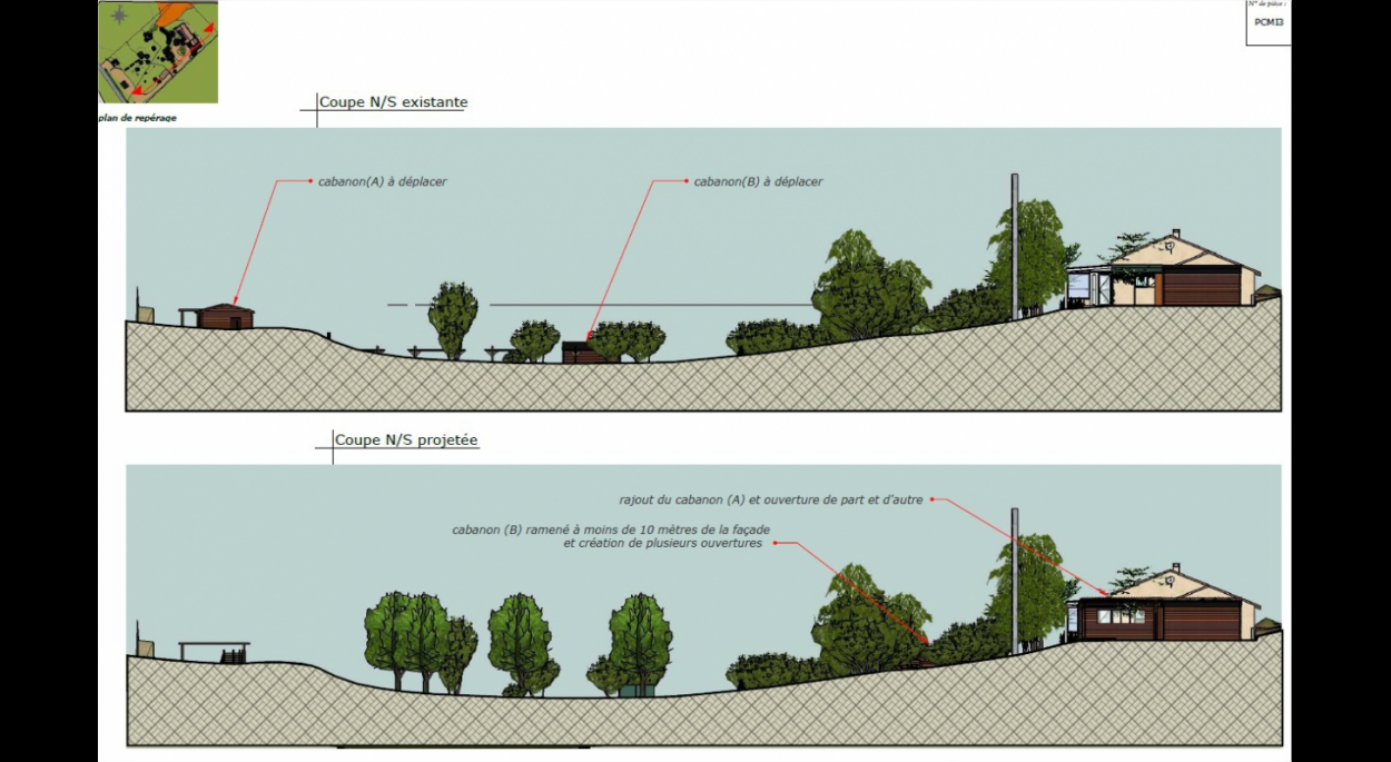 mise en conformité urbanisme DDT abris de jardin lalbenque Lot architecte 46