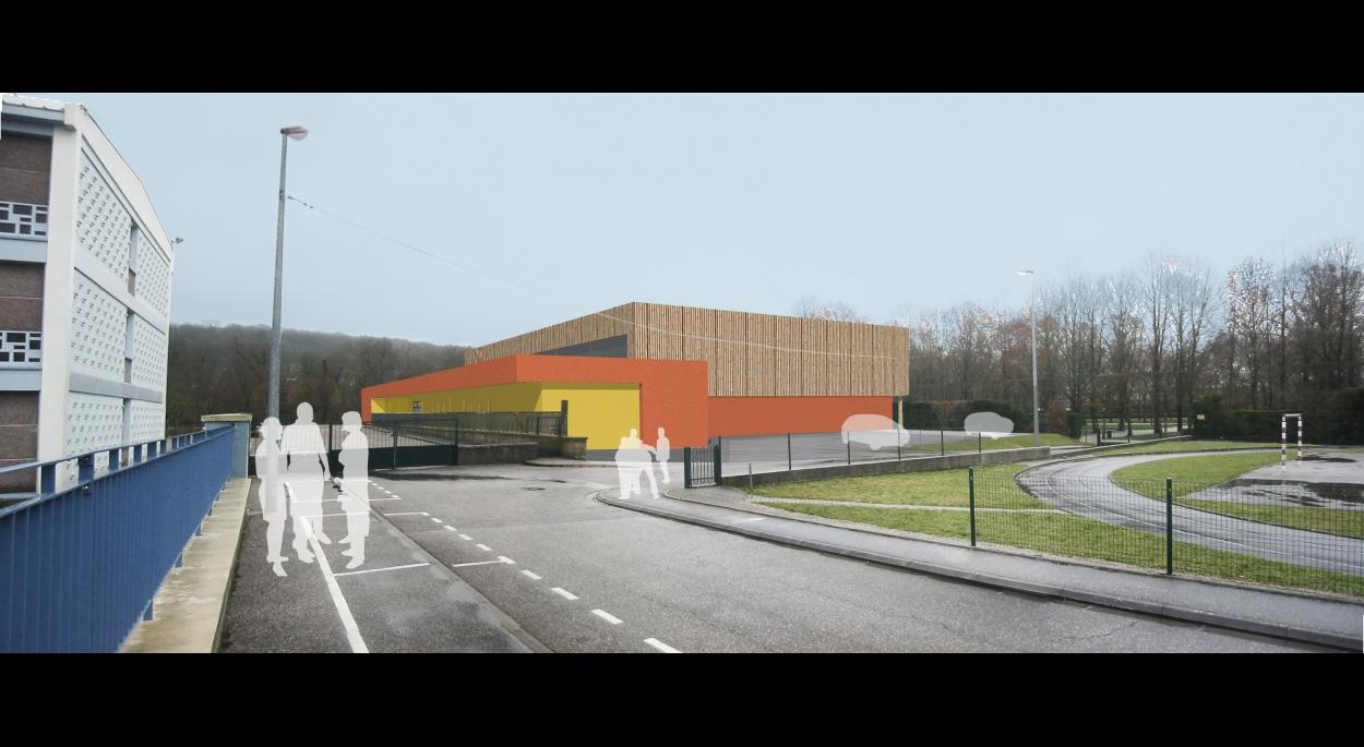 Gymnase Léo Lagrange Ligny-en-Barrois Benjamin Fedeli Architecte