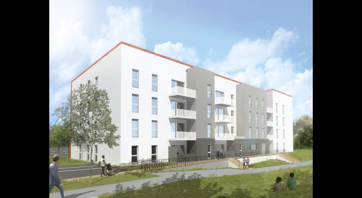 49 logements Essey-lès-Nancy Benjamin Fedeli Architecte