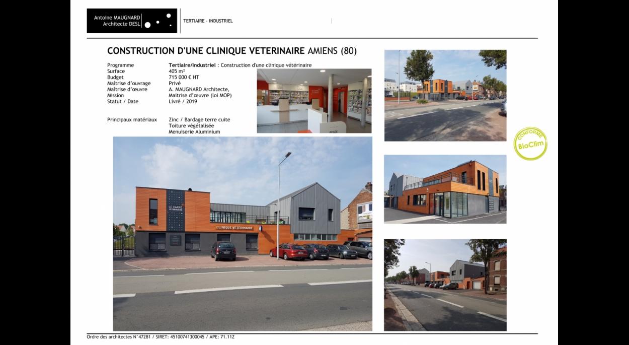 Ordre Des Architectes Amiens construction d'une clinique vétérinaire | antoine maugnard