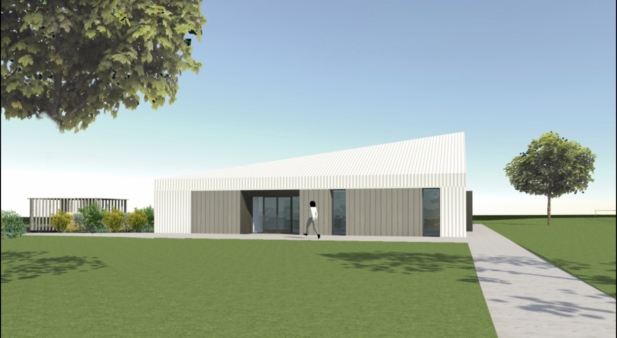 Salle socioculturelle Passive Benjamin Fedeli Architecte