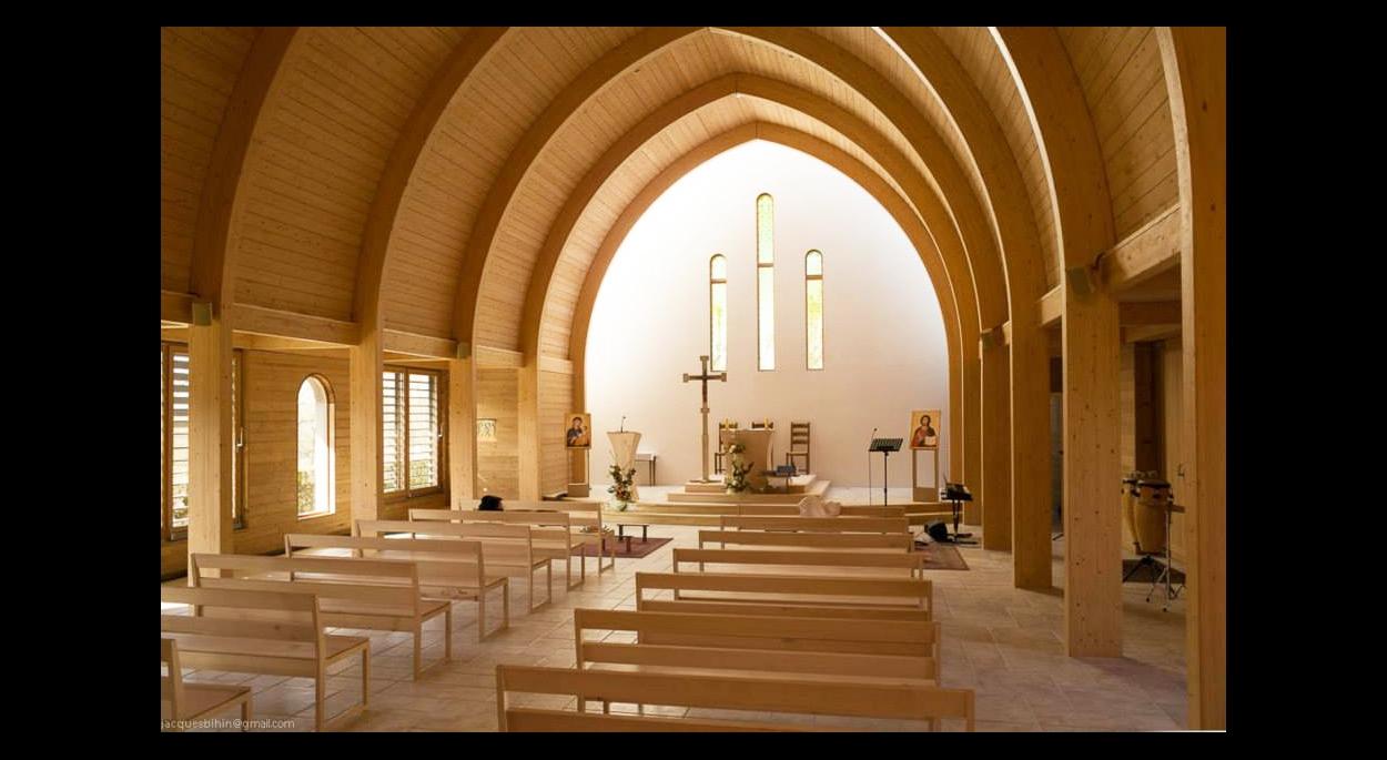 Chapelle bois bioclimatique - Intérieur