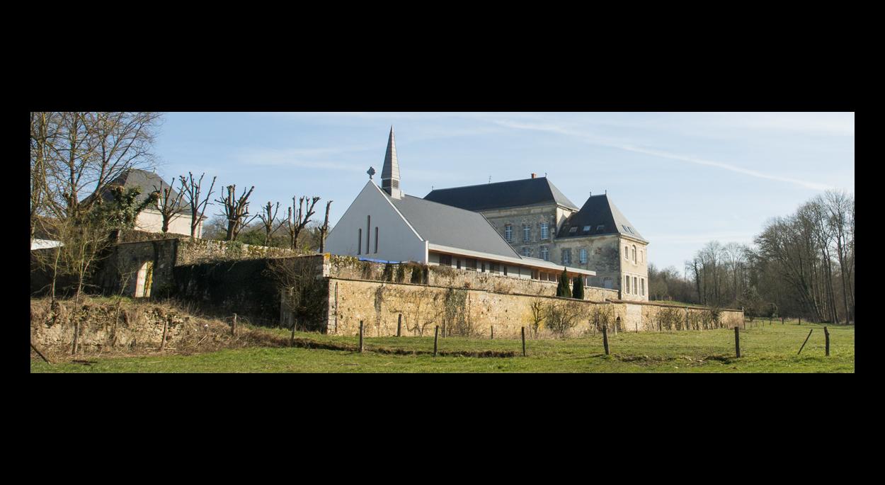 Chapelle bois bioclimatique - Vue Sud-Ouest