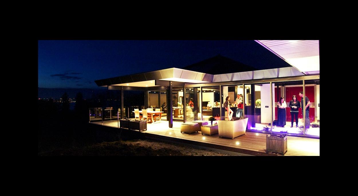 Maison bioclimatique Messery-Terrasse vue nuit