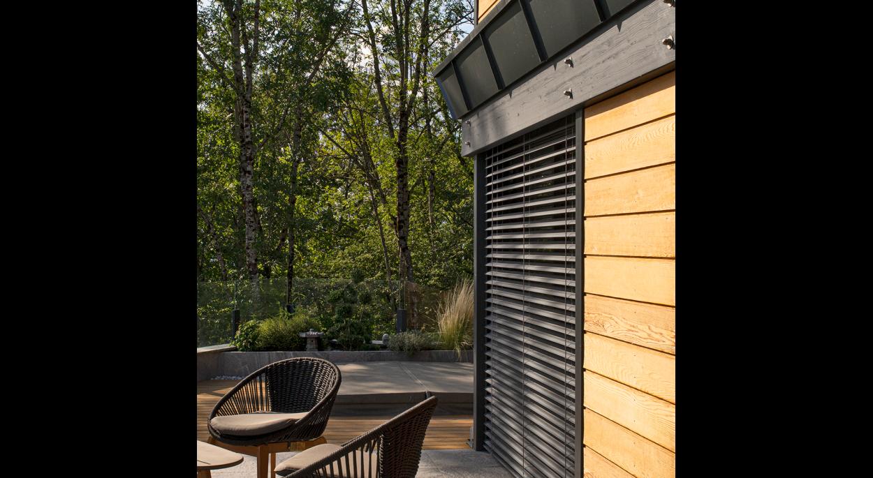 Maison bois bioclimatique Bonnes-sur-Menoge _ Terrasses Sud et Ouest, bardage Red Cedar et BSO