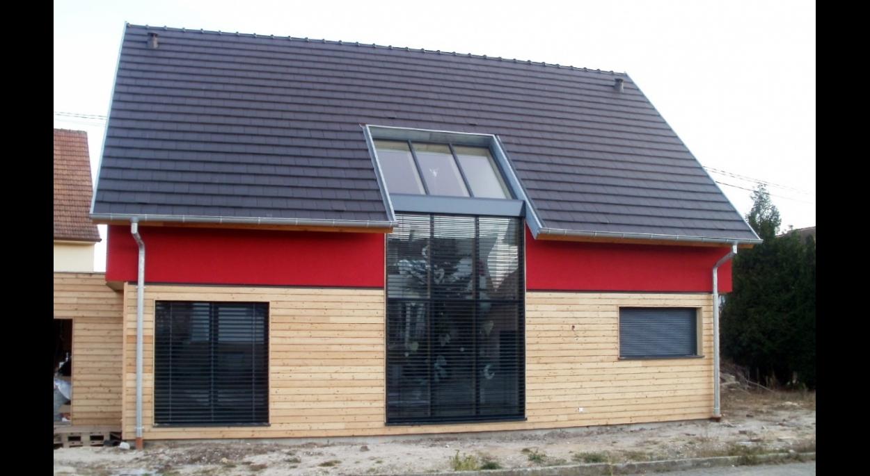 maison BBC ossature bois maison passive bioclimatique alsace bas-rhin