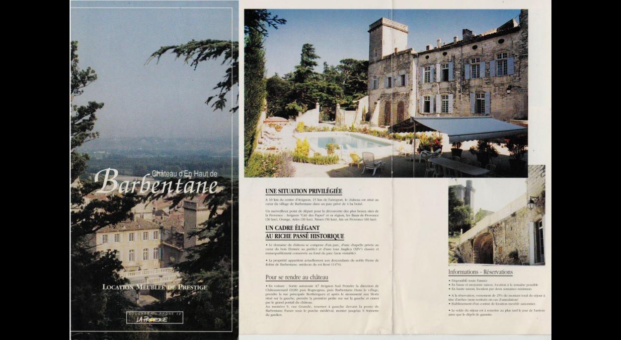 Château d'en haut à Barbentane