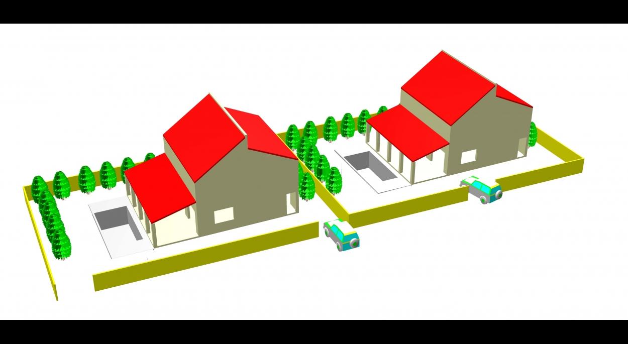 Deux maisons jumelles