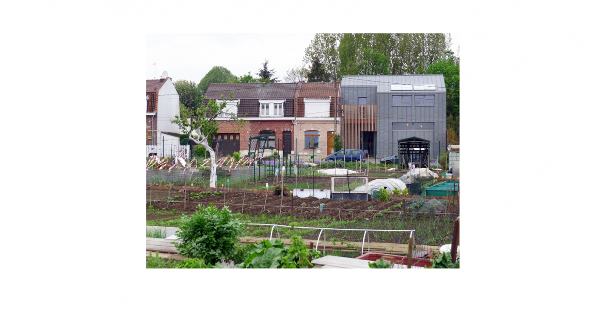 Vue depuis les jardins ouvriers