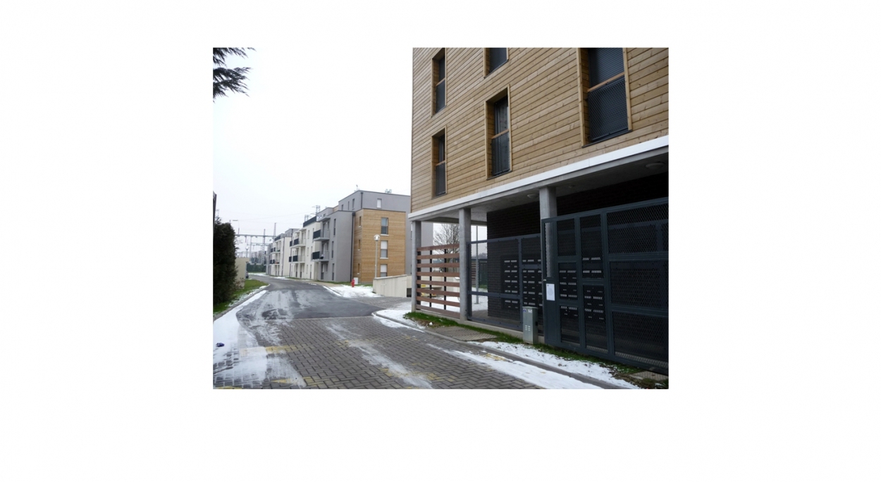 Projet de 47 logements collectifs - Vue depuis l'exterieur