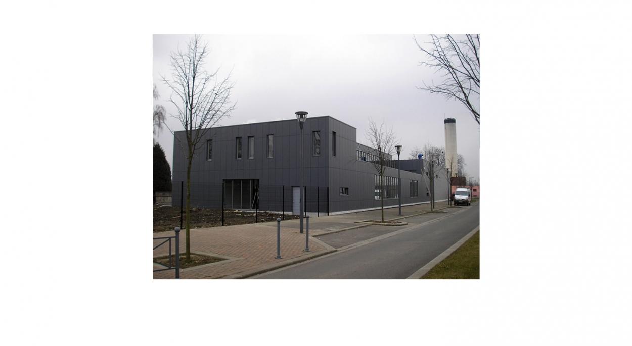 Miroiterie, atelier d'aluminium, showroom et bureaux - Vue depuis le quai de Gand