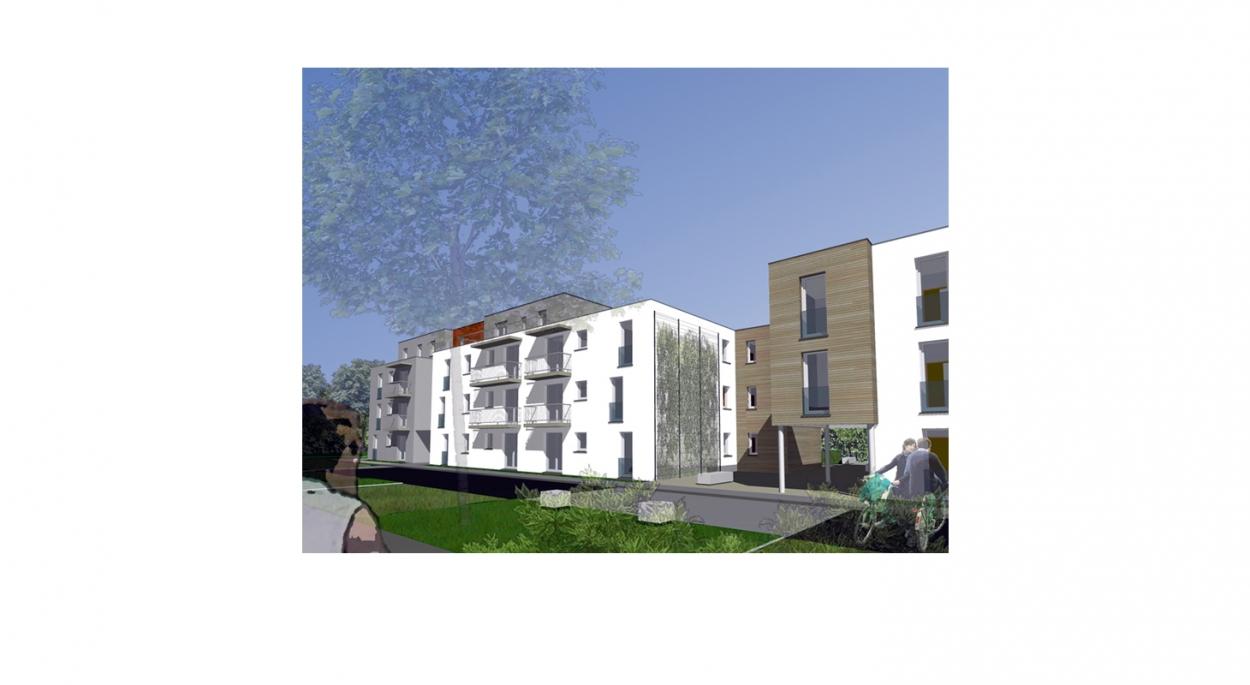 Projet de 47 logements collectifs - Maquette numérique