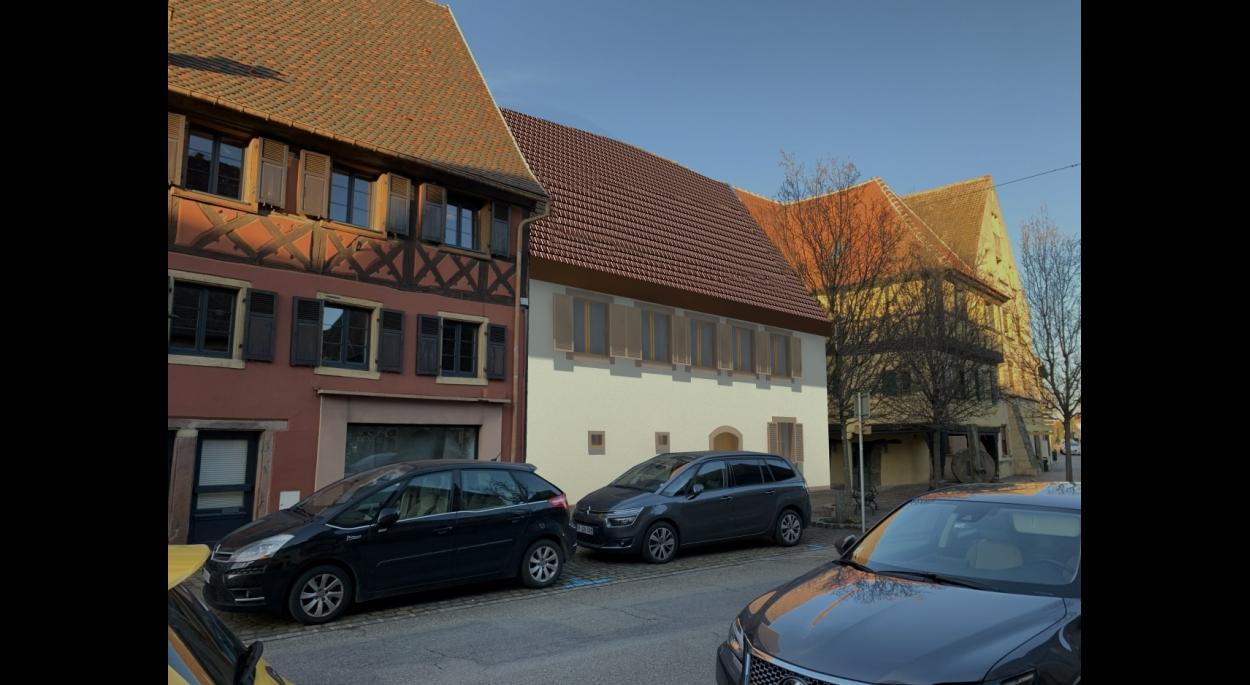 Projet de rénovation d'un bâtiment du XVI me à ROUFFACH- secteur classé