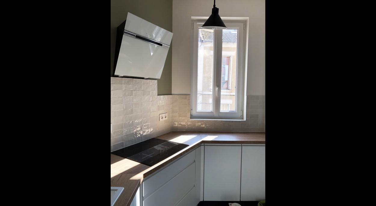 Une cuisine lumineuse